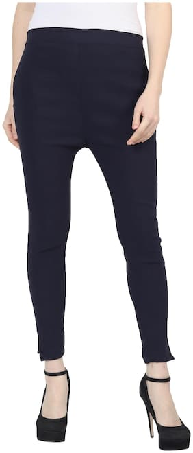 SkyDuck Solid Women Jegging-NavyBlue-S