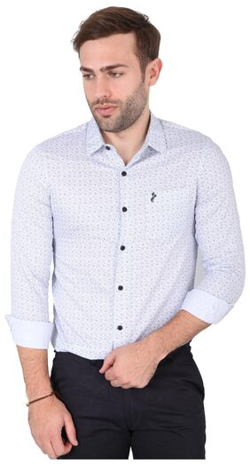 Sky Water Men Regular Fit Casual shirt - White