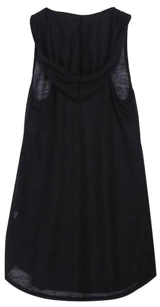 Sleeveless Hoodie T-shirt Women Girls Summer Beach Dress Tops Clothes