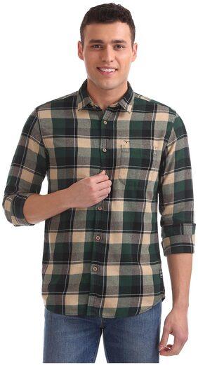 Flying Machine Men Slim Fit Casual shirt - Green