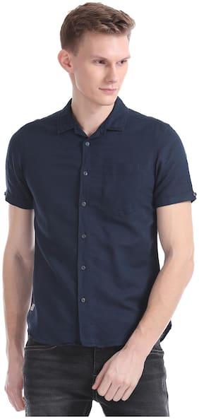Men Slim Fit Solid Casual Shirt Pack Of 1
