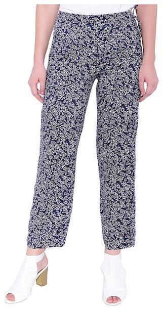 blue printed Palazzo Palazzos Smarty Women's PD Pants 2 Women's xOpIIg