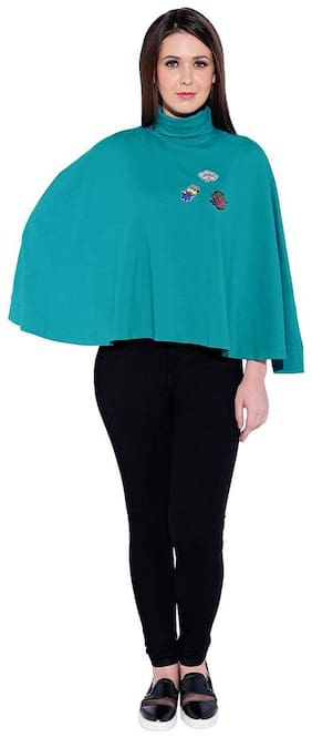 Smarty Pants Women Cotton Solid - Regular top Blue