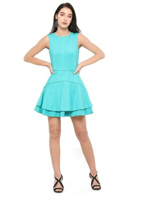 Smarty Pants Women's Turquoise Blue Fit & flair Dress
