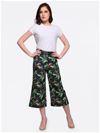 Bottom Green Women Pants Smarty Hem Elastic Geomatirc Heram Pants Print Xq1OnnRgw