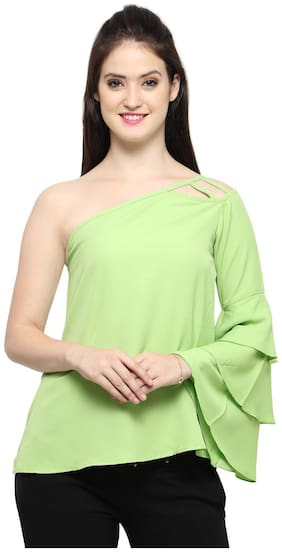 Smarty Pants Women Polyester Solid - Regular top Green