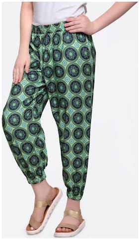 Smarty Pants Women Botanical Print Back side zip 3/4th Length Cullotes