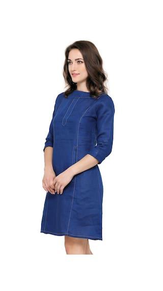 Line A Women's Smarty Pants SM Dress blue Navy 6 w4aavP