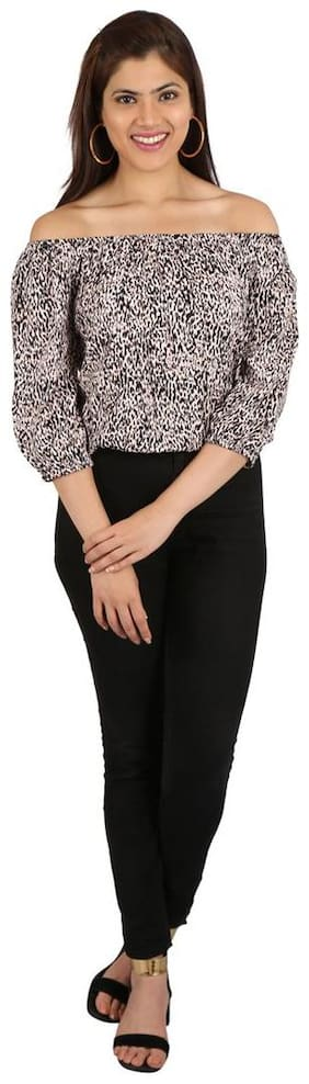 Smarty Pants Women Rayon Animal print - Regular top Multi