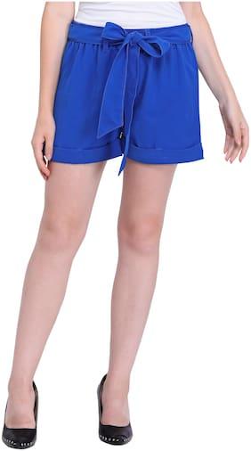 Smarty Pants Women Solid Regular shorts - Blue
