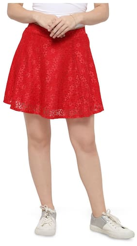 33a8a7116c Smarty Pants Women s red mini skater skirt ...