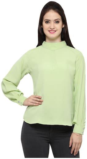 Smarty Pants women's raglan sleeves mandarin collar top.