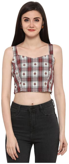 Smarty Pants Women Cotton Checked - Regular top Multi