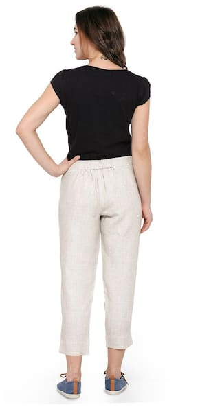 Front Color Women SM Trousers Smarty Pants 2 Fit Flat Slim Natural Solid wat8qC
