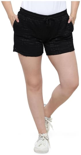 Smarty Pants Women Solid Sport shorts - Black