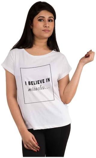 Snoby Believe in miracles printed t-shirt