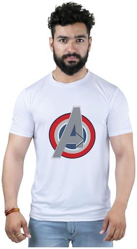 Snoby Men Regular fit Round neck Printed T-Shirt - White