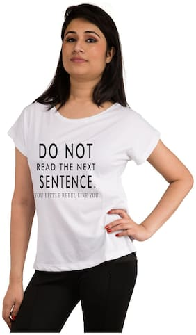 Snoby Quote printed t-shirt