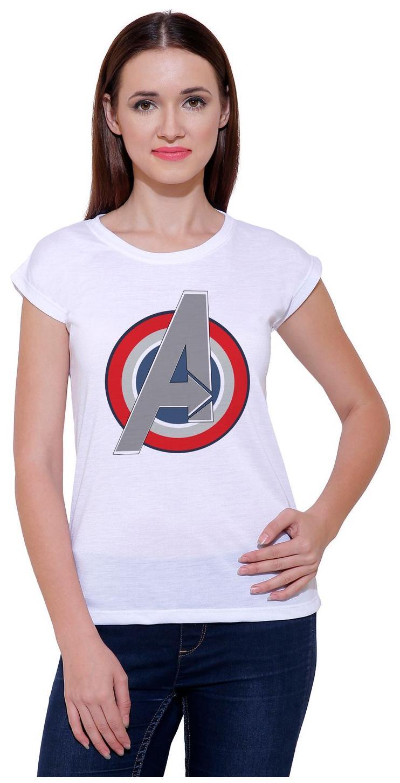 Snoby Women Printed Round Neck T-Shirt - White