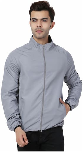 SOC 7068 Light Grey Windbreaker Jacket
