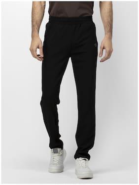 SOC Men Black Solid Regular fit Track pants