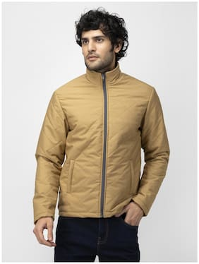 SOC Men Yellow Solid Quilted jacket