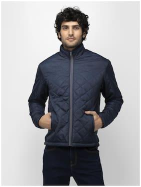 SOC Men Navy blue Solid Quilted jacket