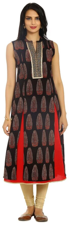 Soch Women Cotton Printed A Line Kurta - Red