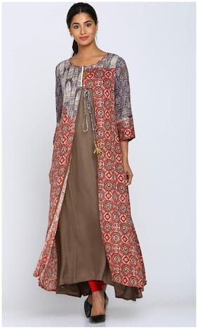 Soch Women Rayon Printed Straight Kurti - Multi