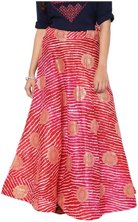 Soch Printed Flared Skirt Maxi Skirt - Red