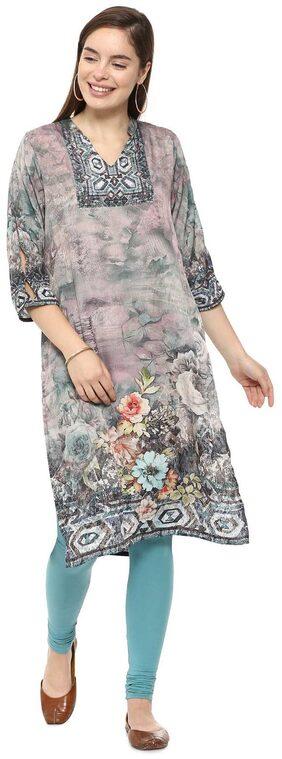Soch Women Polyester Printed Straight Kurti - Multi