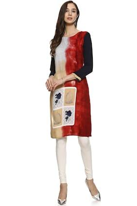 Soch Women Rayon Printed Straight Kurti - Multi