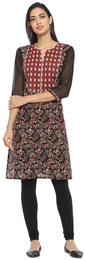 Soch Women Cotton Floral Straight Kurta - Multi