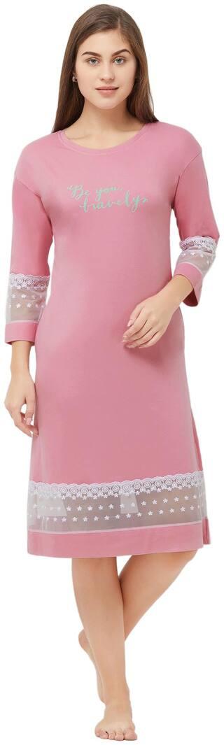 Soie Pink T-Shirt Nighty