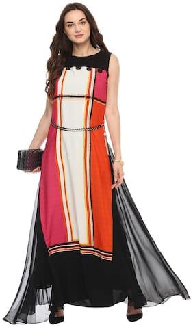 Soie Printed Maxi Dress