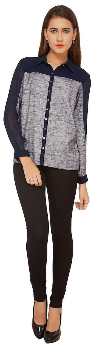 CASUAL TOP SOLID SOIE NpGrxIRV7