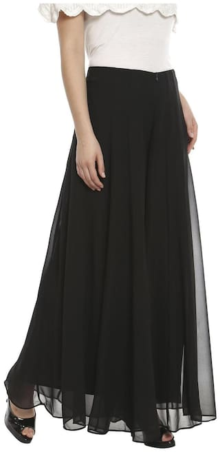 SOIE SOLID FLARED PALAZZO