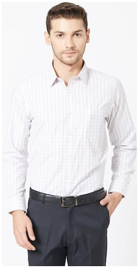 Men Super Slim Fit Striped Formal Shirt