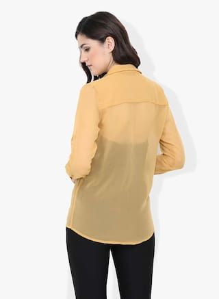 Mustard Solid Solid Mustard Solid Mustard Shirt Solid Shirt Shirt wR0gSqI