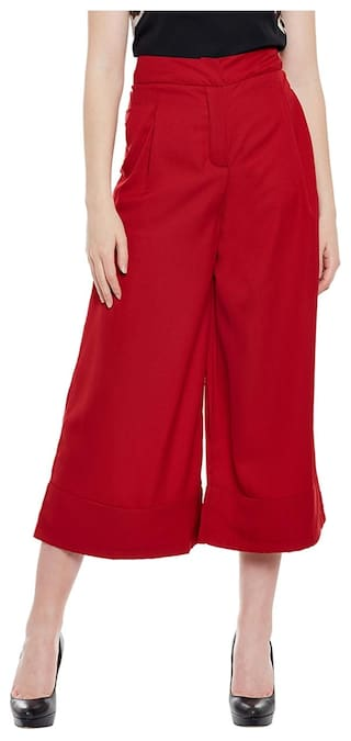 Solid Red Pants