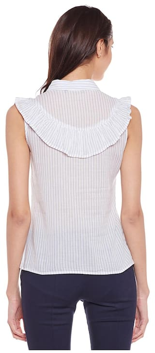Frill Shirt Solid Solid White Stylised Shirt Stylised White White Solid Frill EAZIqwZz