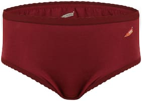 Solo Pack Of 1 Solid High Waist Hipster Panty - Maroon