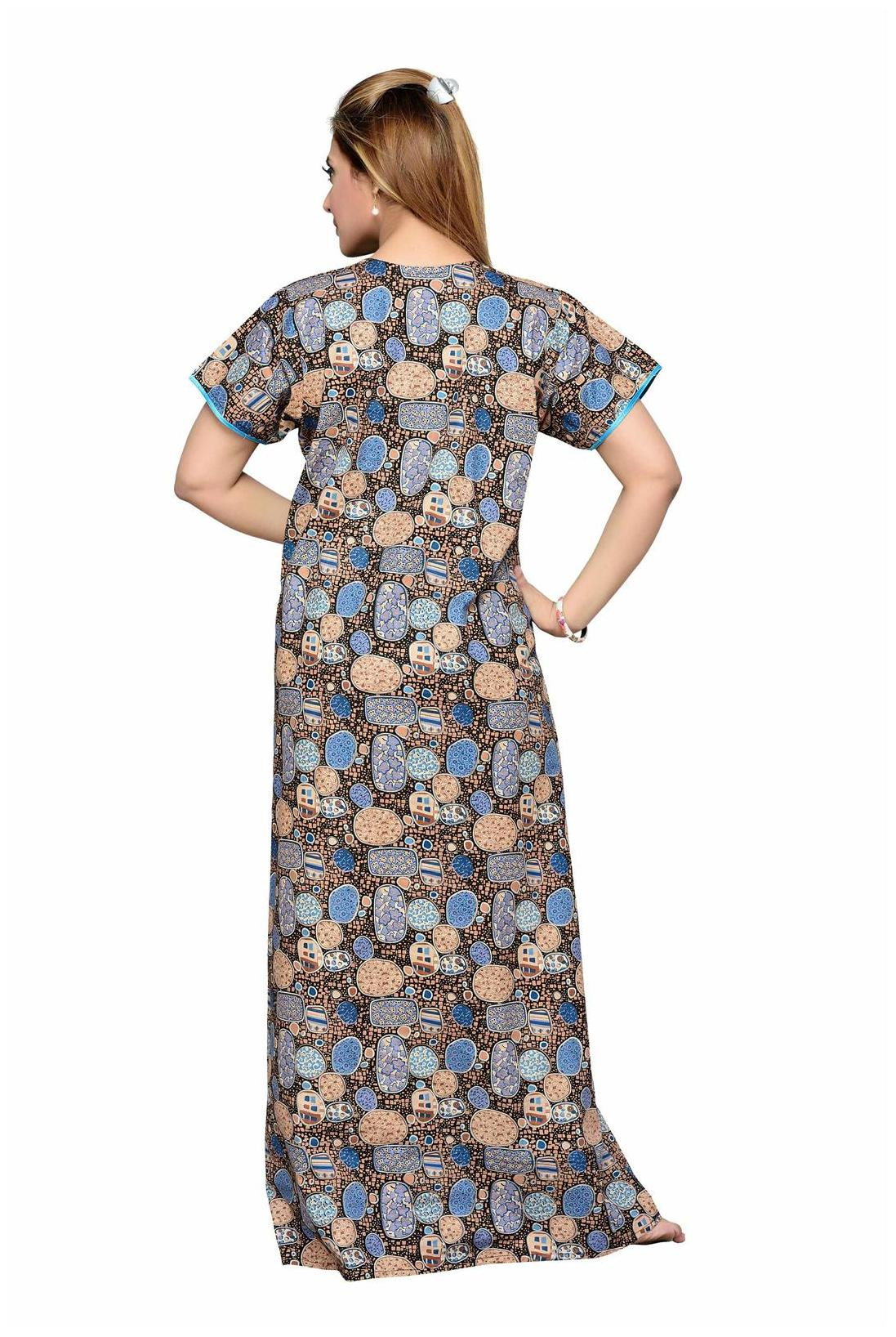 3bfefa4d5c3fb Buy Soulemo Womens Feeding Nighty 100% Pure Cotton Fabric With Two Hidden  (10 Inches) Vertical Zipper On Bust 400b Online at Low Prices in India ...