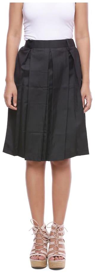 Soundarya Cotton Pleated Knee Length Skirt