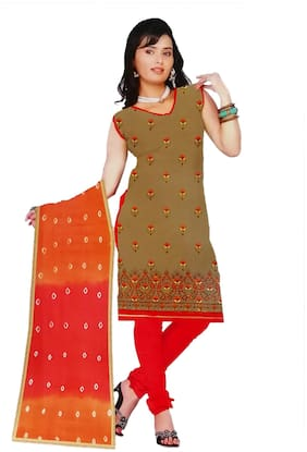 South India Shopping Mall Cotton Floral Regular Suit - Multi