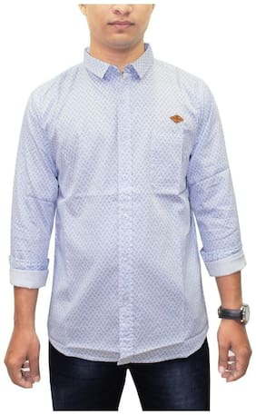 South Bay Men Blue Floral Regular Fit Casual Shirt