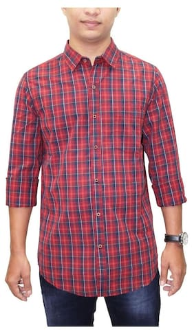 South Bay Men Multi Checked Slim Fit Casual Shirt