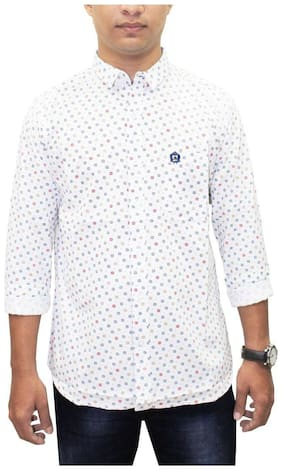 South Bay Men White Floral Regular Fit Casual Shirt