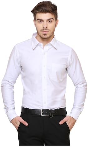 Southbay Men Super slim fit Formal Shirt - White