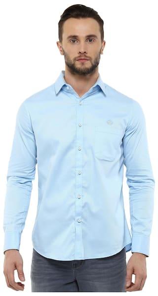 24ba037bdf7 Buy Speak Men Slim Fit Casual shirt - Blue Online at Low Prices in ...